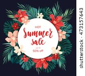 summer sale concept.... | Shutterstock . vector #473157643