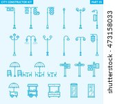 city constructor kit   street... | Shutterstock .eps vector #473158033