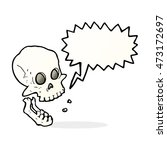 cartoon laughing skull with... | Shutterstock . vector #473172697