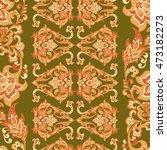 damask floral seamless pattern. ... | Shutterstock .eps vector #473182273