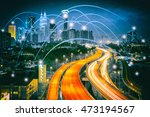 city scape and network... | Shutterstock . vector #473194567