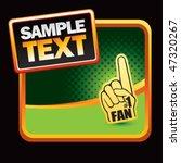 fan hand green halftone banner   Shutterstock .eps vector #47320267