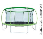 trampoline with safety net | Shutterstock . vector #473206513