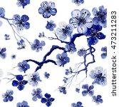 watercolor oriental pattern... | Shutterstock .eps vector #473211283