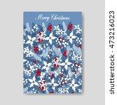 merry christmas wreath   Shutterstock .eps vector #473216023