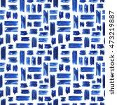 blue brushstroke seamless... | Shutterstock . vector #473219887