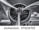 radial engine of an aircraft.... | Shutterstock . vector #473226703