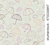autumn seamless pattern with... | Shutterstock .eps vector #473226847