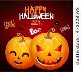 halloween pumpkin head jack... | Shutterstock .eps vector #473228593