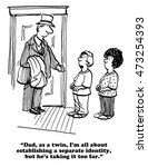 cartoon about identical twins... | Shutterstock . vector #473254393