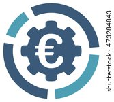 euro diagram configuration icon.... | Shutterstock .eps vector #473284843