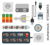 power plugs  electrical outlet... | Shutterstock .eps vector #473288053