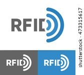vector rfid tag icon or logo.... | Shutterstock .eps vector #473315617