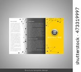 corporate trifold brochure... | Shutterstock .eps vector #473319997