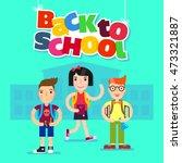 back to school vector... | Shutterstock .eps vector #473321887