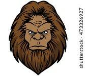 bigfoot head  | Shutterstock .eps vector #473326927