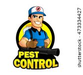 worker with equipment pest... | Shutterstock .eps vector #473334427