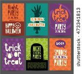 happy halloween party... | Shutterstock .eps vector #473341813