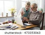retirement senior couple... | Shutterstock . vector #473353063