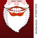 jolly santa claus. joyful...   Shutterstock .eps vector #473357203