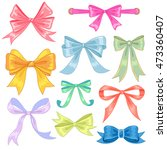 collection of colorful bows... | Shutterstock .eps vector #473360407