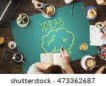 brainstorm ideas sharing... | Shutterstock . vector #473362687