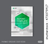 pharmaceutical brochure cover...   Shutterstock .eps vector #473375917