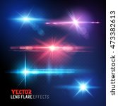 a set of vector lens flare and... | Shutterstock .eps vector #473382613
