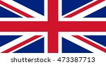 the flag of united kingdom  ... | Shutterstock . vector #473387713