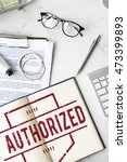 Small photo of Authorize Allowance Approve Permit Graphic Concept