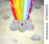 rainbow explosion  overcast ...   Shutterstock .eps vector #473405293