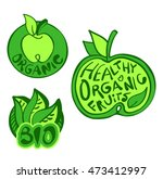 organic food vector label | Shutterstock .eps vector #473412997