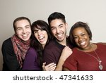 diverse group of friends | Shutterstock . vector #47341633