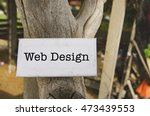 concept image  word web design...
