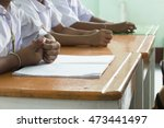 thai students with paper on the ... | Shutterstock . vector #473441497