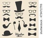 hipster design set. vector set... | Shutterstock .eps vector #473472793