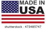 made in usa flag badge | Shutterstock .eps vector #473485747