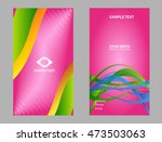 purple business card  | Shutterstock .eps vector #473503063