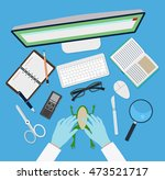 doctor vector workplace with... | Shutterstock .eps vector #473521717