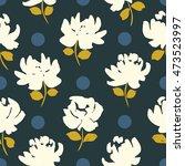 floral seamless pattern.... | Shutterstock . vector #473523997