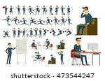 young cartoon businessman in...   Shutterstock . vector #473544247