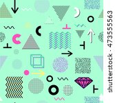 trendy geometric elements... | Shutterstock .eps vector #473555563