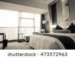 hotel room or bedroom interior. ... | Shutterstock . vector #473572963