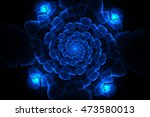 abstract fractal galactic blue