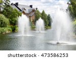 Beautiful Pond With Fountains...
