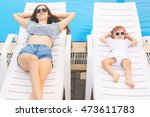 endless summer  cute baby and... | Shutterstock . vector #473611783