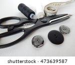 thread  buttons  scissors and... | Shutterstock . vector #473639587