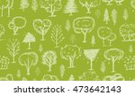 seamless pattern with trees ... | Shutterstock .eps vector #473642143