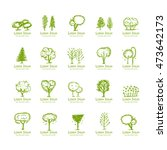 trees collection  sketch for... | Shutterstock .eps vector #473642173