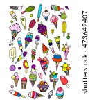 icecream collection  sketch for ... | Shutterstock .eps vector #473642407